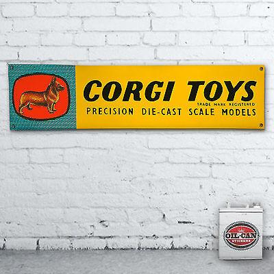 CORGI TOYS  advert Banner garage heavy duty for workshop man cave retro