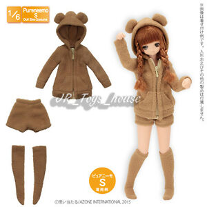 Azone-Pureneemo-PNS-Bear-Bear-Room-Wear-Set-Brown-1-6-Obitsu-Momoko-Doll