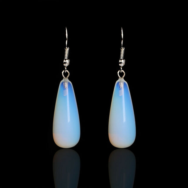 1Pair New Fashion Creative Natural Stone Drop Dangle Opal Earrings Women Jewelry