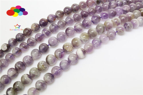 Diy 4//6//8//10mm Natural Amethyst AB Crafts Round Beads fit bracelet necklace