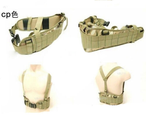 MOLLE Tactical Military Nylon Combat Duty Belt With Waist Belts Protection Pad