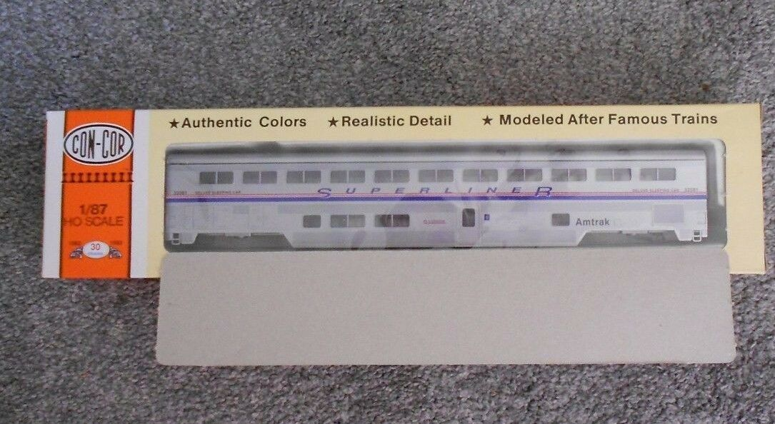 CON-COR 85' SUPERLINER SLEEPER HO GAUGE AMTRAK NIB