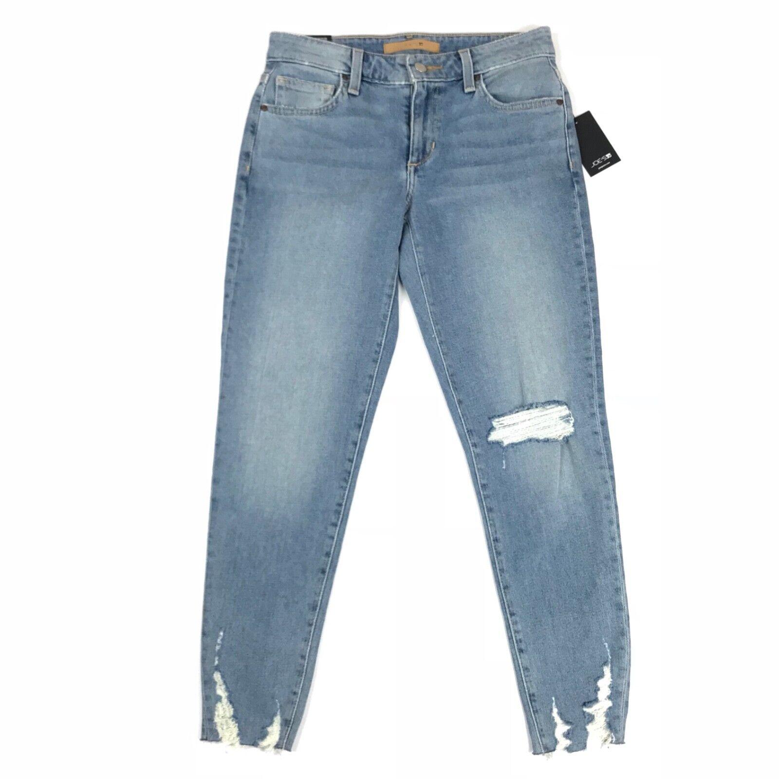 Joes Jeans Womens Jeans Boyfriend Slim Crop Distressed Raw Hem Size 24X26