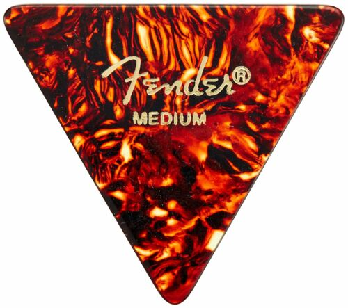 12 Pack Tortoise Shell Fender 355 Shape Classic Celluloid Picks Guitar Medium