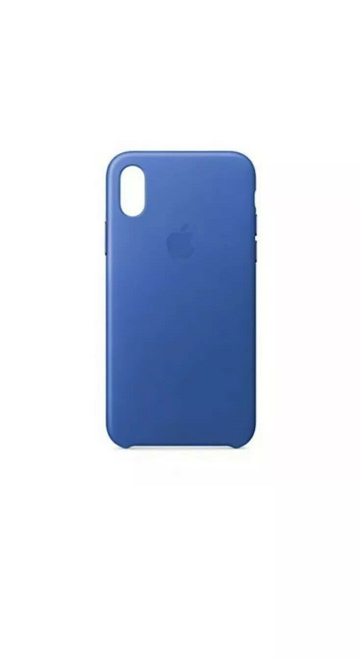 Apple Leather Case For iPhone X - Electric Blue