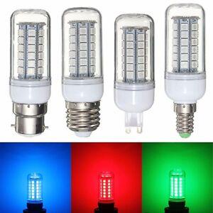 Red-Green-Blue-E27-E14-G9-B22-48-SMD-5050-LED-Light-Corn-Bulb-Lamp-220-240V-New