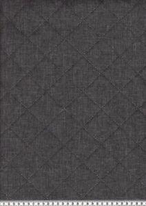 Steppstoff-034-Moskau-034-Vlies-wattiert-Okoe-Tex-Standard-meliert-Anthrazit-145cm