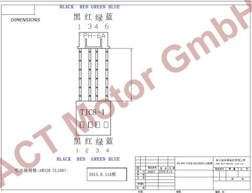 ACT Motor GmbH 5PCS Nema17 Planetary Gearbox Schrittmotor 17HS4413AG5.18-X 1.4A