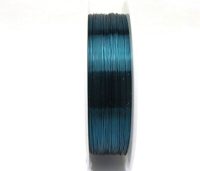 New 1roll 23M special copper wire craft wire bead wrap jewelry ink blue