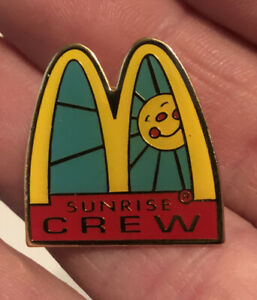 Vintage McDonald's Lapel Pin Sunrise Crew Arches with Sunshine Smiley