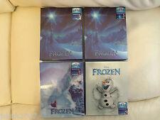 Tutte le 4 Disney congelato 3D steelbooks BLU RAY blufans esclusivo ** NUOVO E SIGILLATO **