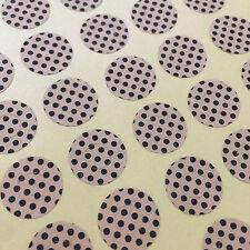 Hole Reinforcement Sticker, Round Label, Seal, Polka Dot Kraft Brown Paper 204pc