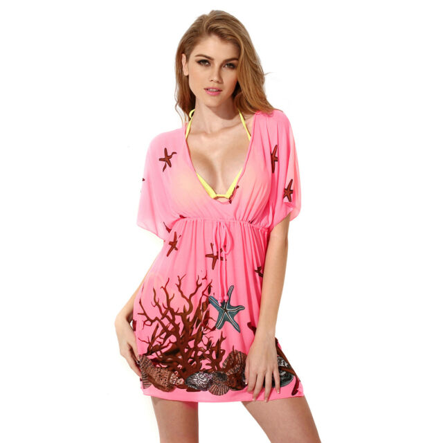 8f31807c88ccc Hot Swimsuit Cover up Swimwear Beachwear Kaftan Beach Dress V Neck ...