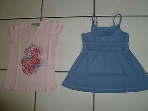 Lot-De-2-Tee-Shirt-Et-Debardeur-fille-taille-6-Ans-Neuf-Marque-La-Redoute-Kids