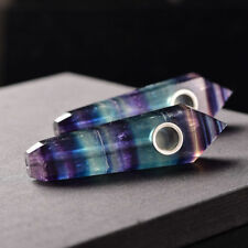 10PCS Natural Purple//Green Fluorite Pipes Quartz Crystal Wand healing