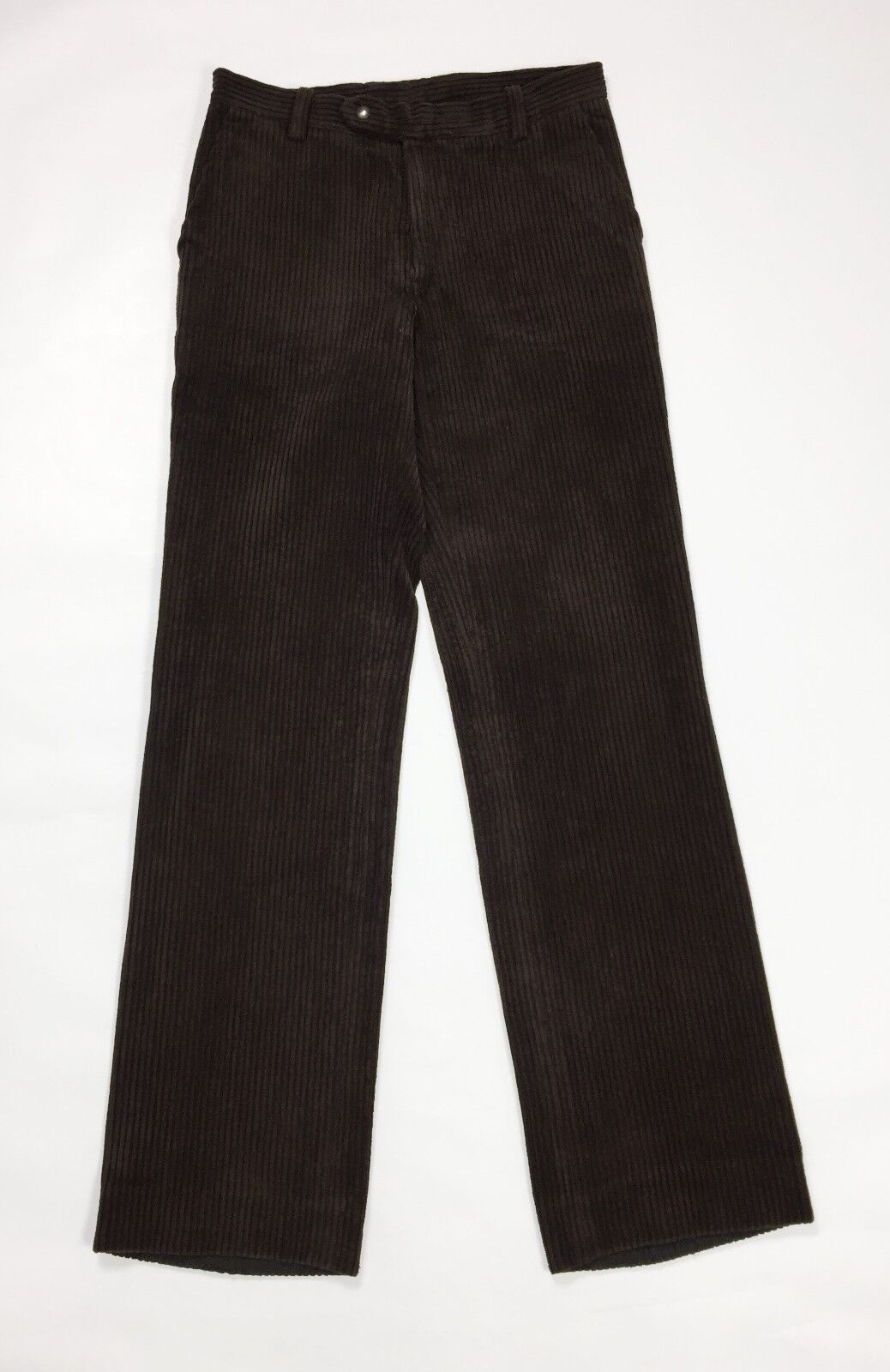 Pantalone velluto a coste usato brown gamba dritta invernali vintage T3018