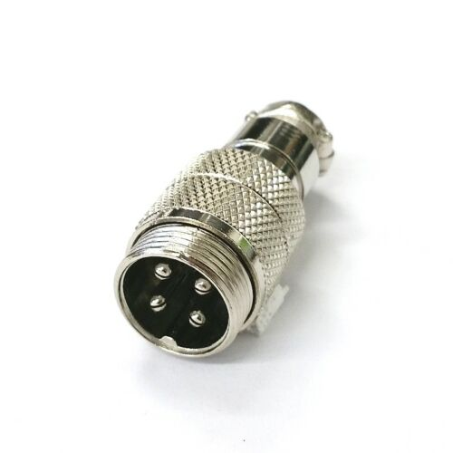 NEW 4 Pin Male In-Line CB Mic or Ham Radio Microphone Connector