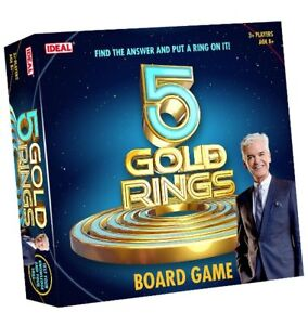 Ideal 5 FIVE GOLD RINGS Board GAME Family Fun Game