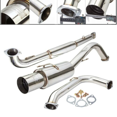 """2.5-3/"""" Catback 4.5/"""" Muffler Fit 95-99 Eclipse GST 2.0L DOHC Turbocharged Only"""