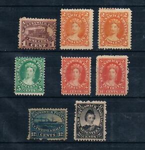 New-Brunswick-Canada-British-Colonial-1860-63-sc-6-11-MH-lot