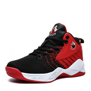Kids-Boys-Basketball-Shoes-Athletic-Outdoor-Running-Sports-Fashion-Sneakers-Tide