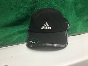 Men s Adidas ClimaCool Relaxed Hat Running Golf One Size Cap BLACK ... 2861a96df6b4