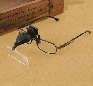 Clip-on Eye Glasses Binocular Magnifier Eyeglasses With 3 Lens 1.5X,2.5X,3.5X