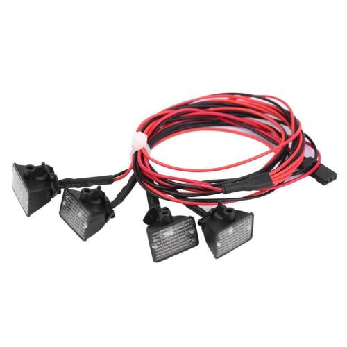 RC Crawler Car Roof Lights LED Light Lamp Parts for Axial Scx10 Traxxas Trx-4