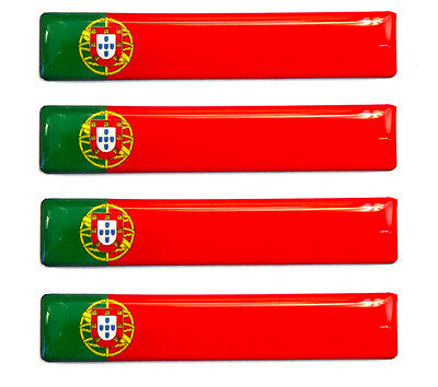 4 x Portugal Flaggen Resin 3D Silikon Aufkleber  Tablet Laptop Auto Handy E 216