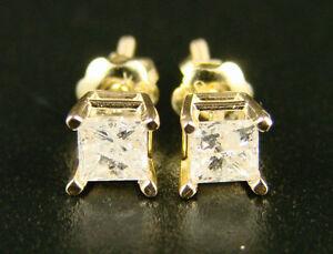 Women-039-s-14K-Yellow-Gold-Princess-Cut-Diamond-Solitaire-60-CT