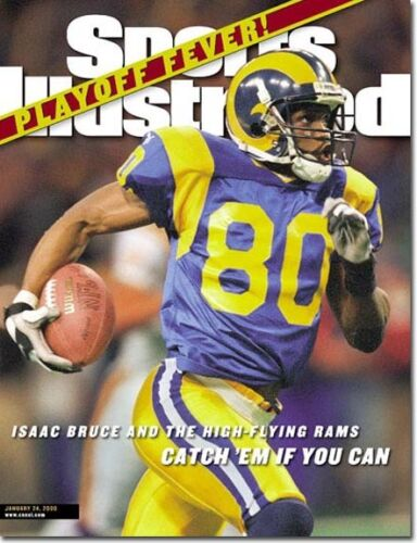 Louis Rams SPORTS ILLUSTRATED NO LABEL WB 2000 Isaac Bruce St January 24
