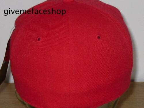 Ethos Hip hop urban retro Brand New Fitted hat red all sizes flat peak cap