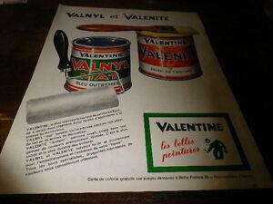 VALENTINE-VALNYL-amp-VALENITE-Publicite-de-presse-Press-advert-1962