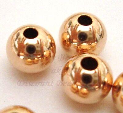 14k Rose Gold Filled 5mm Seamless Spacer Beads 10pcs #7101-5