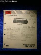 Sony Service Manual CFS W505L Cassette Recorder (#0794)