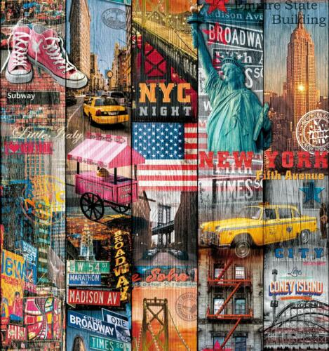 D-C-Fix Dekore Manhattan New York City Collage Photo Self Adhesive Vinyl Film