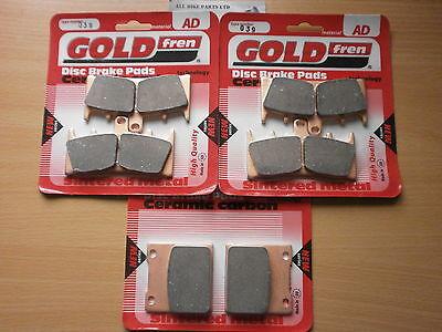 SUZUKI GSF1200 NAKED BANDIT K5 2005 /> FULL SET SINTERED BRAKE PADS *GOLDFREN*