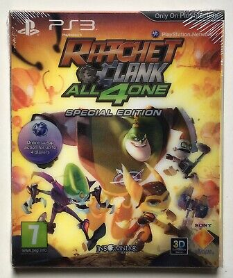 Ratchet Clank All 4 One Special Edition Playstation 3 Factory Sealed New Ebay