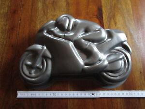 Junge Kuchen Backform Motiv Motorrad Mit Fahrer Biker Breite 31