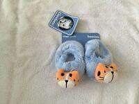 Gerber Newborn 0-6 Months Baby Boy Booties Socks Shoes Slippers Animals Blue