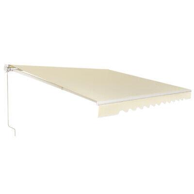 12'×10' Retractable Patio Awning Aluminum Deck Sunshade ...