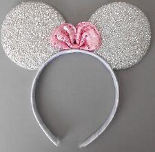Minnie mouse ears hairband fancy dress party hen night glitter silver