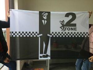 WALT JABSCO 2 TONE SPECIALS SKA REGGAE UNION JACK 3 X 5FT FLAG TROJAN SKINHEAD