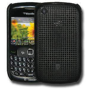 Perforated-Retro-Sports-Hard-Shell-Case-Cover-for-BlackBerry-Curve-3G-Black