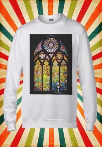 Banksy Stained Glass Window Graffiti Men Women Unisex Top Hoodie Sweatshirt 1761