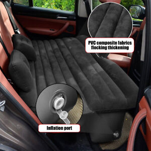 Inflatable Flocking Car Bed Back Seat Air Mattress Travel Camping