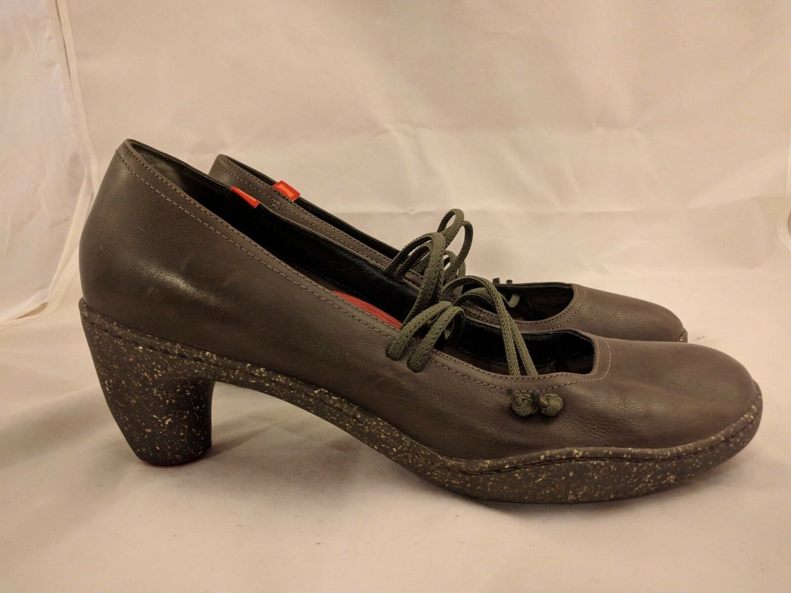 Camper Brown Leather Heels Women Recycled Components Chrome Free Leather