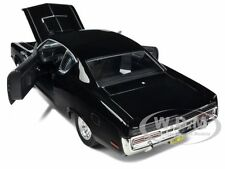 1970 AMC REBEL BLACK 1/18 DIECAST MODEL CAR BY ROAD SIGNATURE 92778