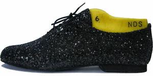Black-Rock-Glitter-Full-Suede-Rubber-Sole-Jazz-Shoes