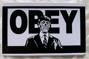 "Obey Black & White  2"" x 3""  Fridge / Locker Magnet. They Live Sci Fi Movie"